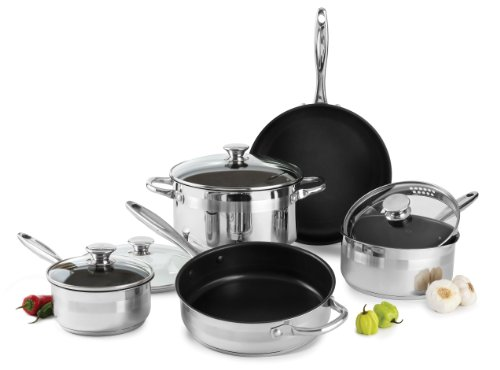 Wolfgang Puck Ga9pcns13 9 Piece Nonstick Cookware Set